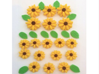Edible Sunflowers cake topper Frozen