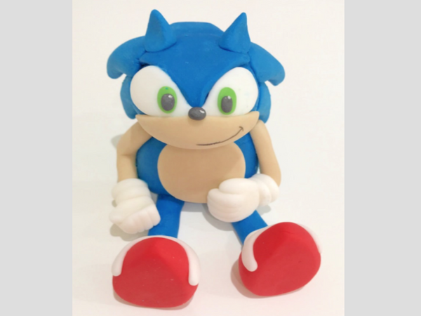 sonic cake topper decoration