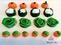Edible vegetable cake toppers decoration