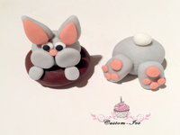 Rabbit Bunny bums cake topper decoration