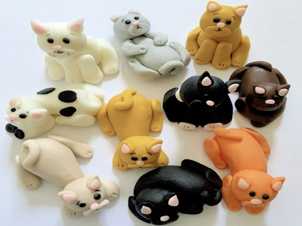 edible cat cake toppers