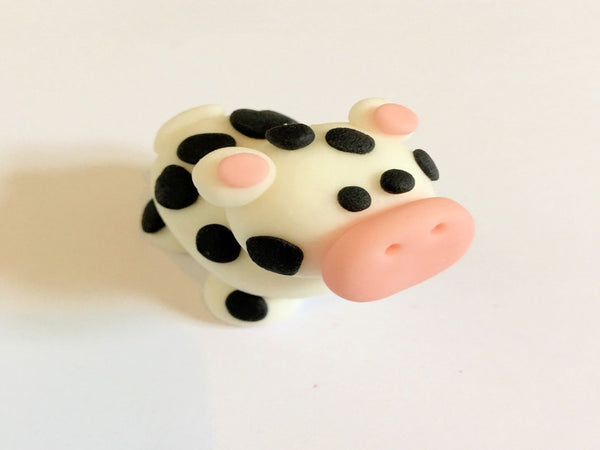 cow edible cake toppers