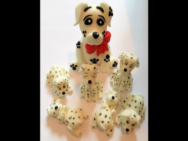 Edible 101 Dalmatian cake topper set