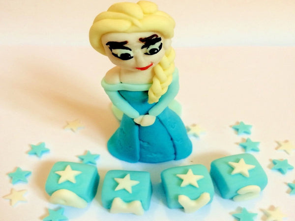 Edible frozen cake toppers Elsa