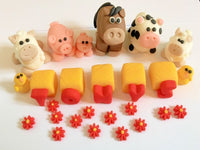 Edible farm cake toppers