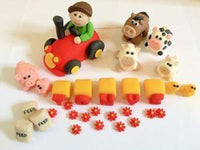 Edible farm cake toppers set
