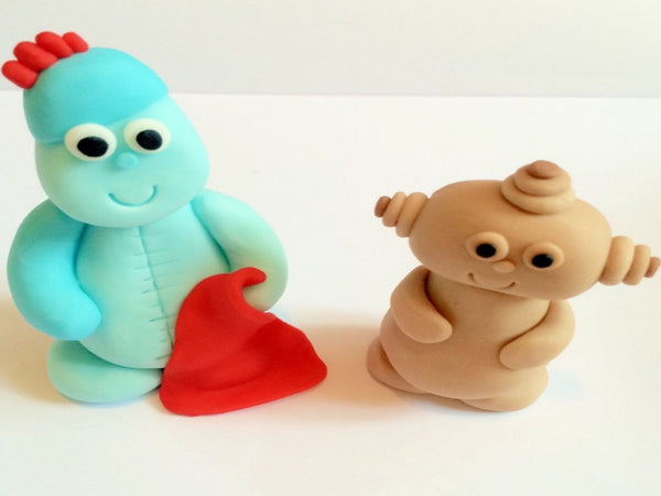 In The Style Of Iggle Piggle And Makka Pakka cake topper decoration