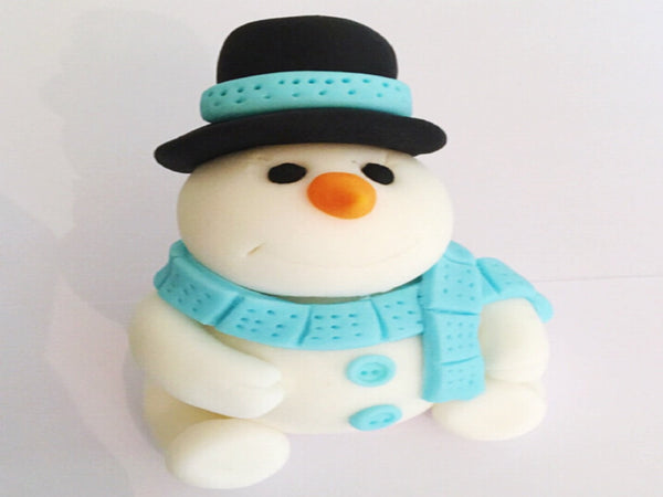Edible snowman cake topper decoration - christmas