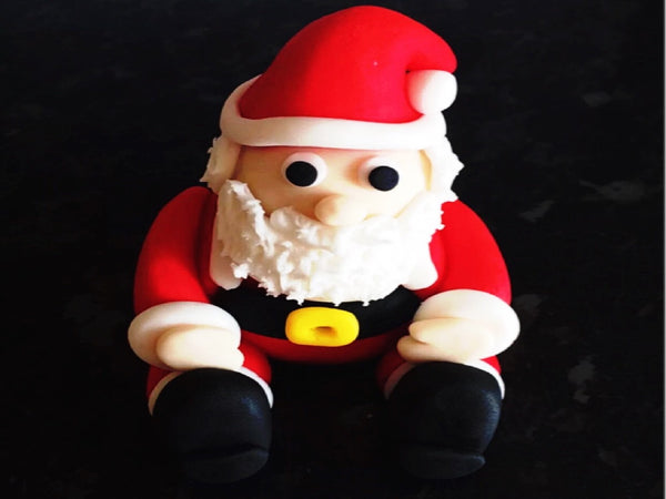 Edible Santa cake topper decoration