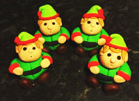 Edible x4 Elves cake topper decoration