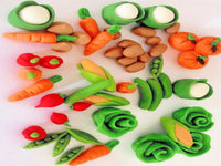 Edible cake toppers large veg set