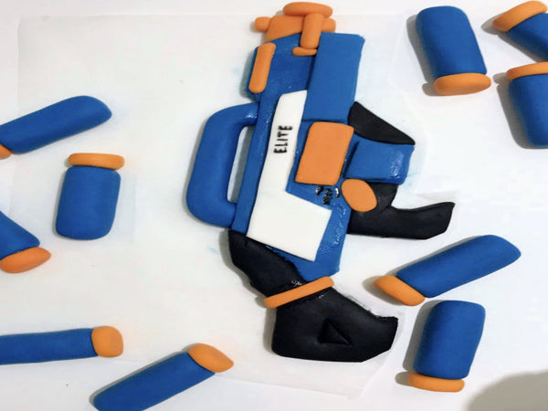 edible nerf cake topper