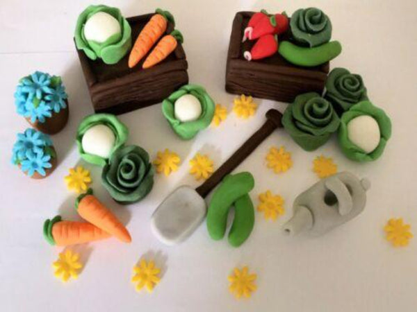 edible veg cake toppers