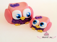 Edible owl cake toppers