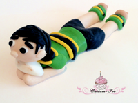 Edible rugby cake topper