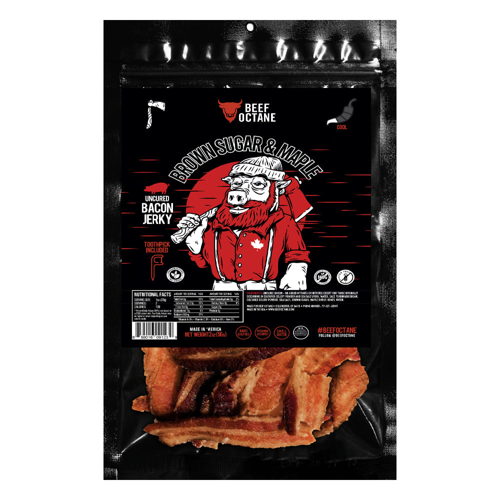 BEEF OCTANE BROWN SUGAR & MAPLE BACON JERKY
