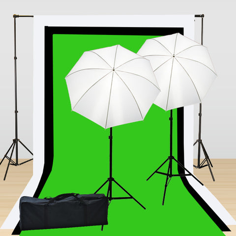 Continuous Video Lighting Kit with 3 Muslins