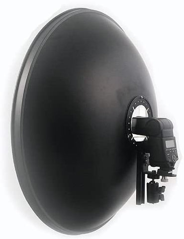 "22"" Camera Flash Beauty Dish Bracket with White Diffuser"