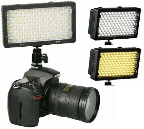 Professional 240 LED Bi Color Video Light Panel l with Color Temperature Switch 3200K-5400K and Brightness Dimmer CN240CH