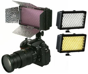 240CHB 240 LED Dimmable Hot Shoe Light with Barndoor and Diffuser