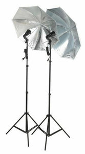 2 Studio Strobe Flash Umbrella Softbox Light Stand SET2