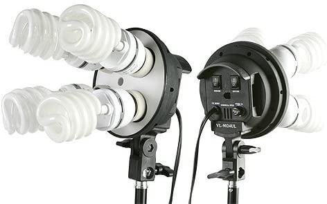 Digital Photography Video 2400 Watt Three Softbox Lighting & Boom Hair Light Kit H9004SB2