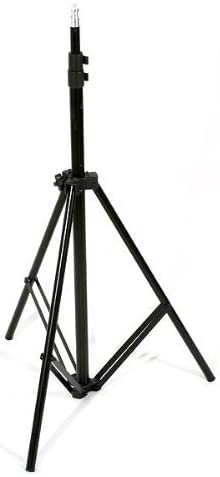 Triple Lighting Video Photography Light Kit 2 Muslin Support Stands Kit with Case