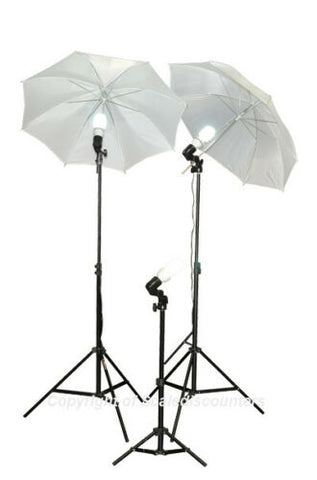 Video Film Photo Studio Portrait 3 Light Stand Kit DK3