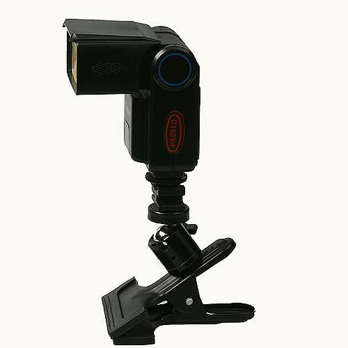 Swivel Portable Flash Clamp with Hot Shoe Mount Flash Adapter H6804SH