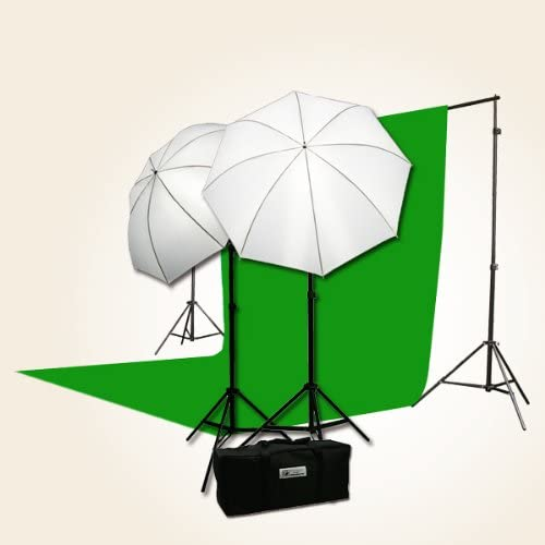 H69G Digital Photo Studio Video Lighting Kit Chromakey Muslin Backdrop Stand