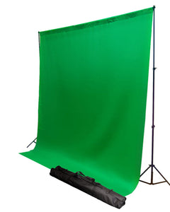 6' x 9' Chroma Key Green Screen Photography Video Chromakey Muslin Backdrop Background with Background Stand H80469G