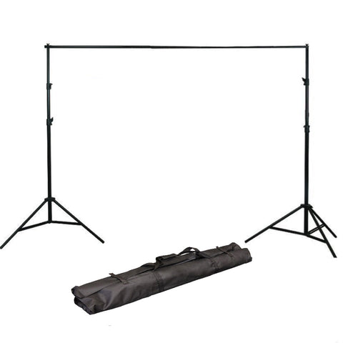 8.5ft x 10ft Photography Studio Backdrop Photo Video Support System 2 Background Stands 4 Adjustable Cross Bars Carrying Case Kit H804