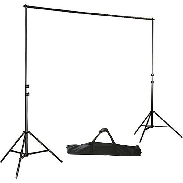 Photo Video Studio 8' x 10' Chroma Key Green Screen Backdrop Supporting Stand Kit with 5' x 7' Cotton Chromakey Green Screen Muslin Backdrop and 3 Clamps H804-57G3C