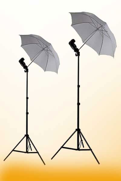 2 x Off Camera Flash Mount Photograph Lighting Flash Umbrellas Case kit HUB4