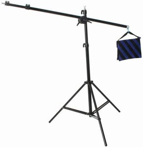 Heavy Duty Photography Video Studio Boom Stand Boom Arm Light Stand & Sandbag Combo