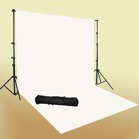 Photo Video 10x12 White Muslin + Background Stand