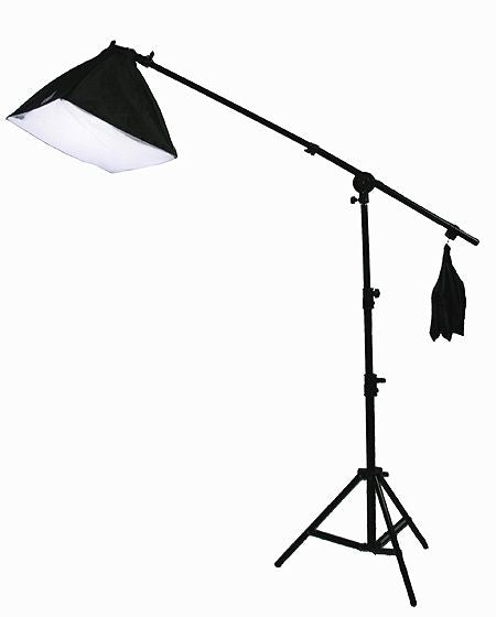 3 Softbox Boom Stand Hair Light 2700 W Continuous Video Photo Studio Lighting