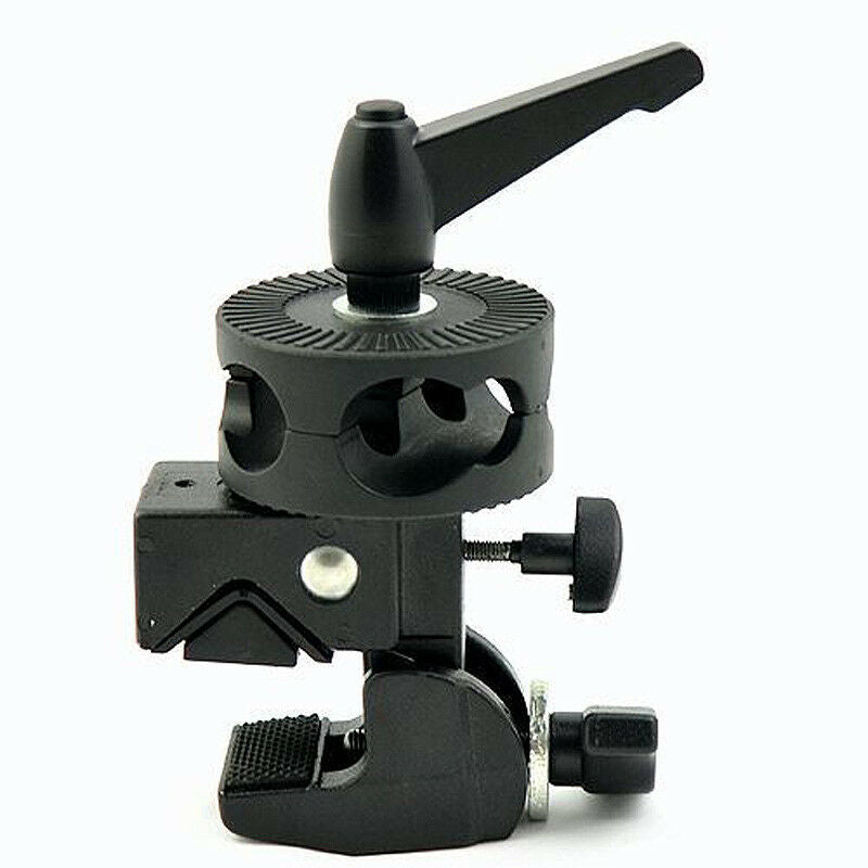 Light Stand Support Studio Super Clamp Dual Head Clamps