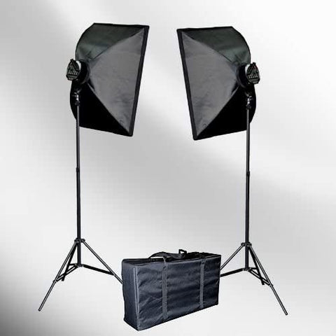 2000 Watt Lighting Studio Portrait Kit with Carrying Case