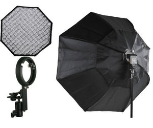 "37"" Octagon Honeycomb Grid Softbox with Flash Mounting for Nikon Canon LBW895GD"