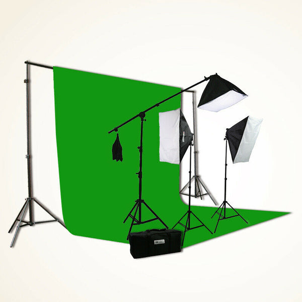 Chromakey Screen Photography Video Light Softbox Lighting Boom Background Stands