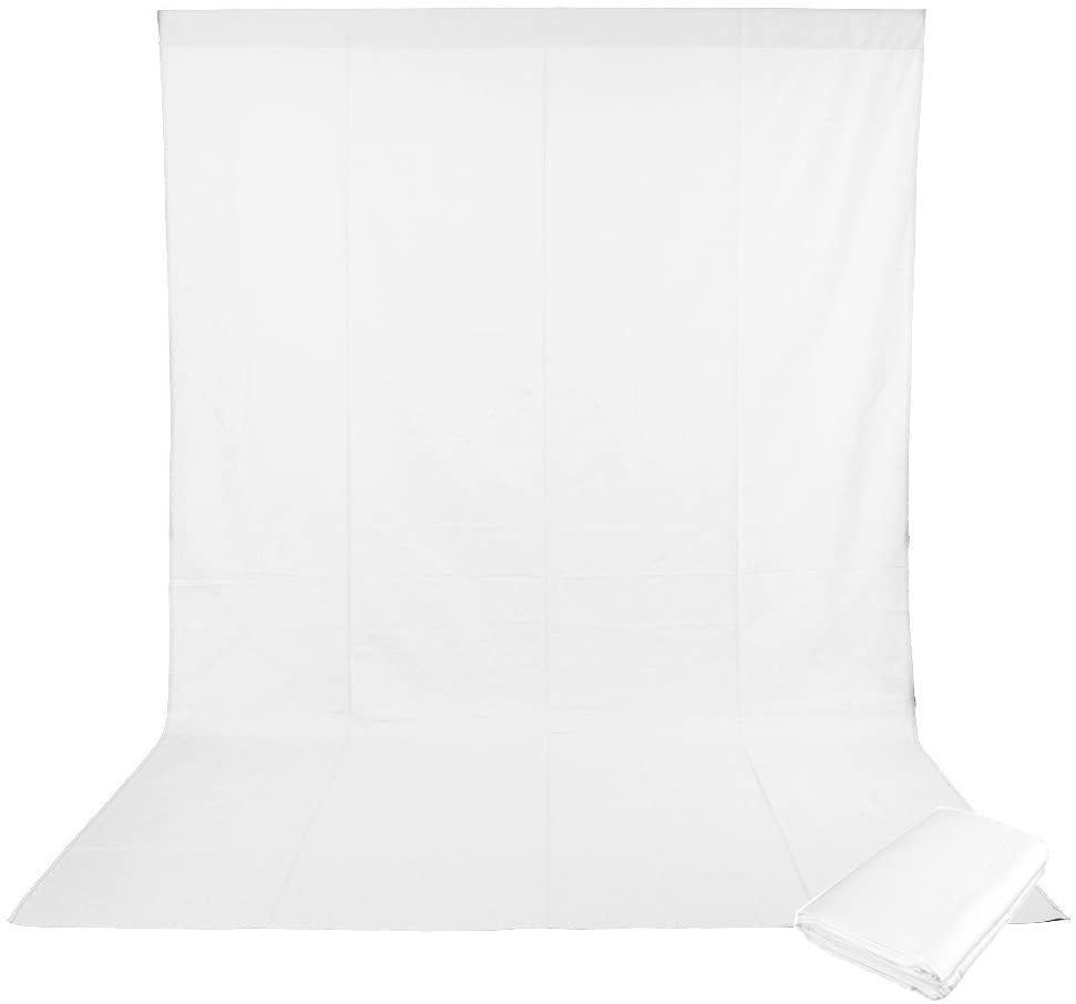 White Photography Muslin Background