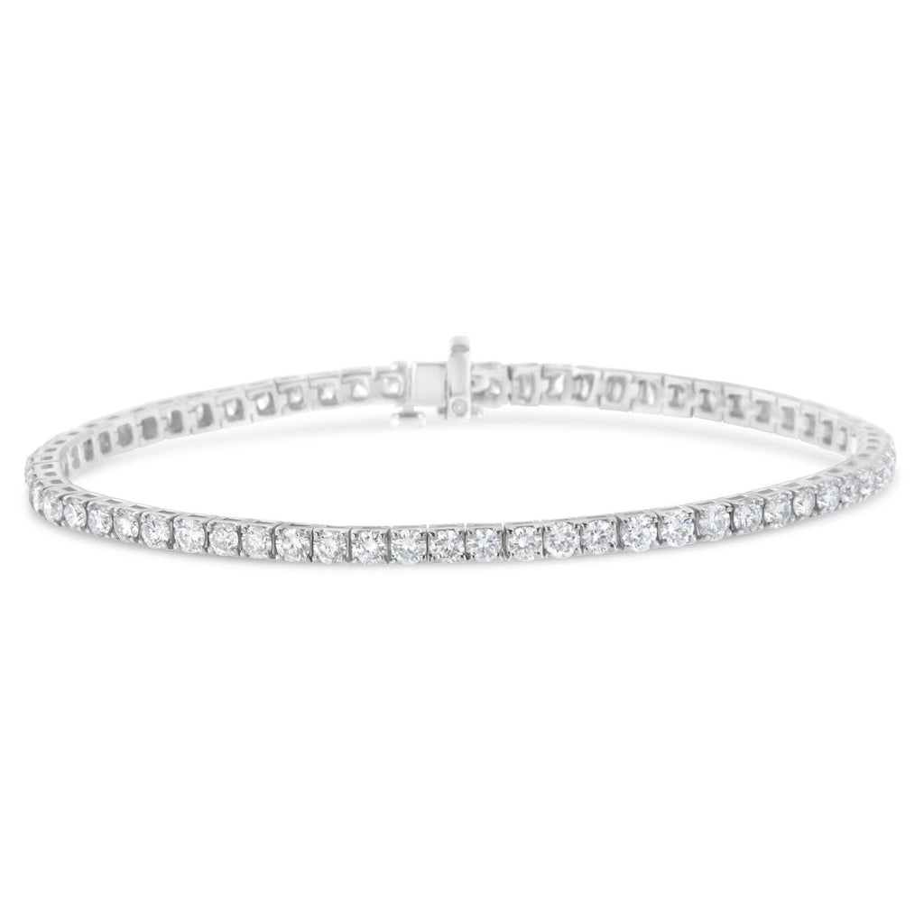 14K White Gold IGI Certified Diamond Tennis Bracelet