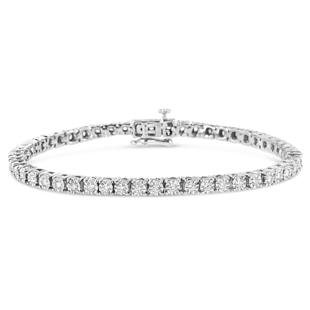 925 Sterling Silver 3 CT. Miracle-Set Lab-Grown Diamond Tennis Bracelet