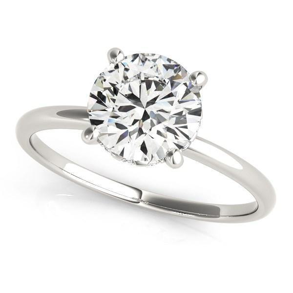 14k White Gold Prong Set Round Diamond Engagement Ring (2 cttw) - Marquee Jewelry