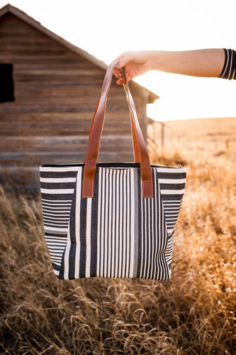 Black & White Canvas Tote