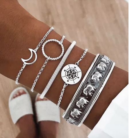 Moon & Wind Bracelet Set