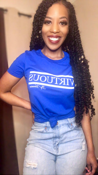 Royal Blue 'Virtuous' tee