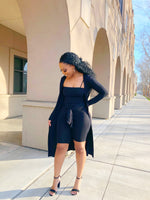 Pray and Slay cardigan ROMPER set (black)