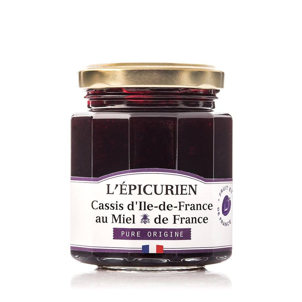 Cassis d'Ile-de-France et miel de France confiture collection L'Épicurien